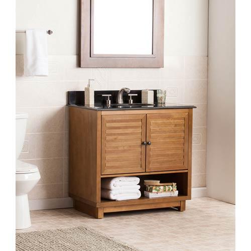 Southern Enterprises Lansbrook Bathroom Vanity Sink w/ Granite Top