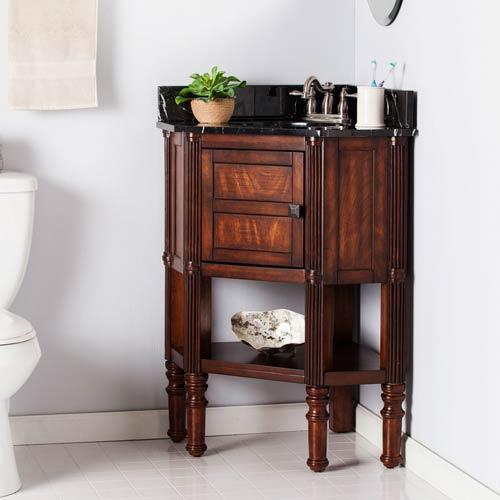 Beckingham Corner Bath Vanity Sink w/ Marble Top