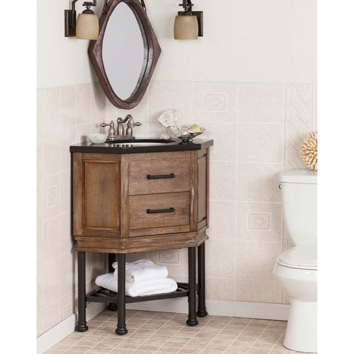 Southern Enterprises Bainbridge Corner Bath Vanity Sink W Granite Top