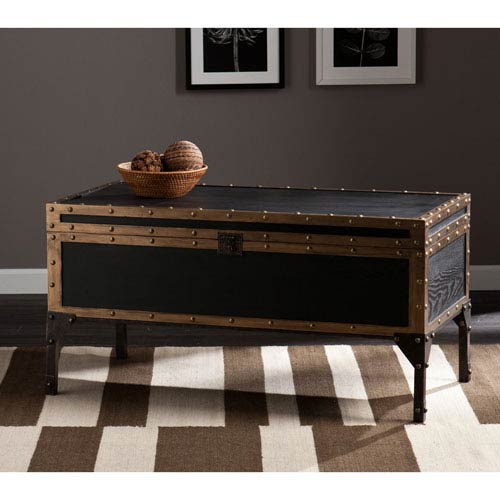 Drifton Travel Antique Black Trunk Cocktail Table