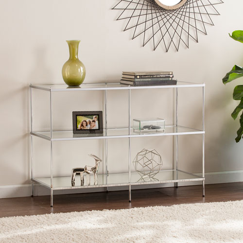 Knox Glam Chrome Mirrored  Console Table