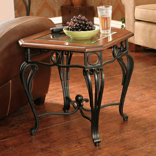 Prentice Black End Table