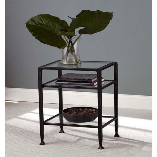 Southern Enterprises Metal End Table - Black