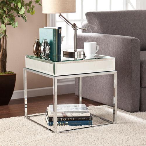 Dana Mirrored End Table