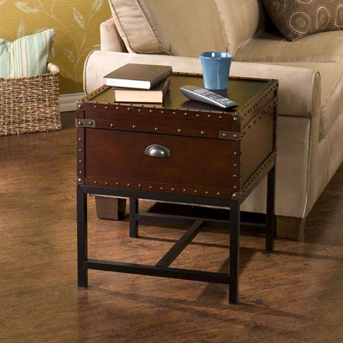 Southern Enterprises Voyager Espresso Storage End Table