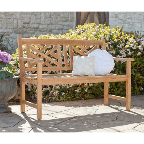 Russell Teak Chippendale 4-inch Bench