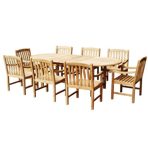Southern Enterprises Nine-Piece Teak Dining Set