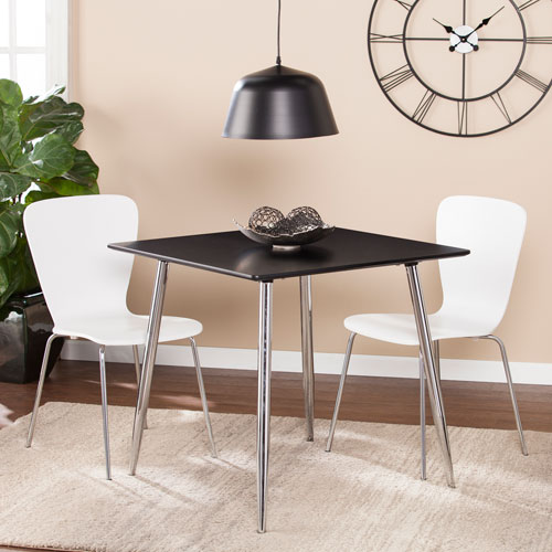 Kelwyn Square Small Space Dining Table - Black