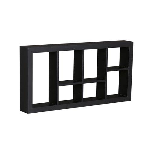 Southern Enterprises Taylor Black 24 x 12 Display Shelf