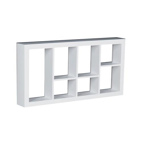 Southern Enterprises Taylor White 24 x 12 Display Shelf