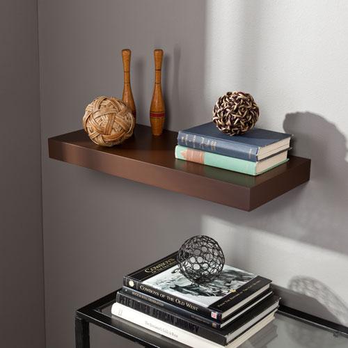 Chicago Chocolate 24 Inch Floating Shelf