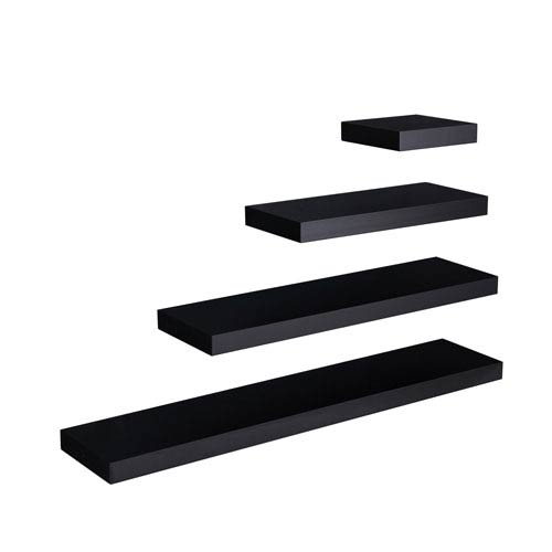 Southern Enterprises Chicago Black 24 x 10 Floating Shelf
