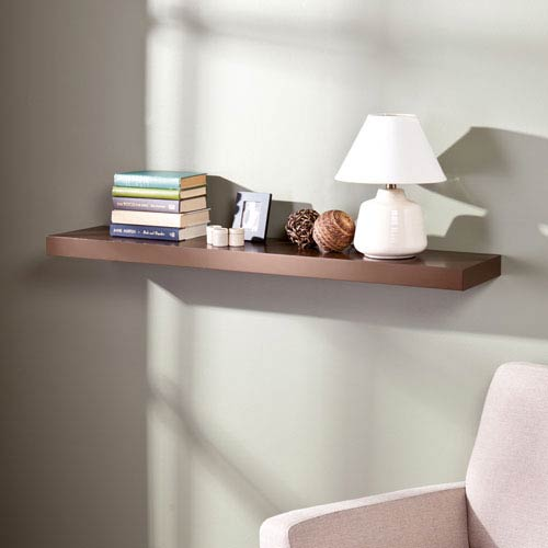 southern enterprises chicago chocolate 48 inch floating shelf en7481 rh bellacor com 48 inch floating shelf home depot 48 inch white floating shelves