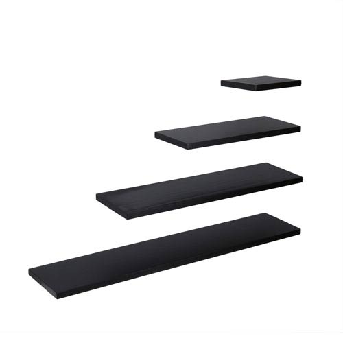 Southern Enterprises Aspen Black 10 x 10 Floating Shelf