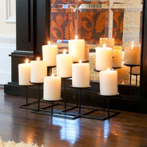 Black 9 Light Candle Candelabra