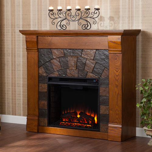 Elkmont Oak Electric Fireplace