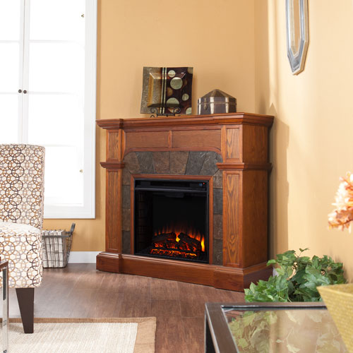 Cartwright Oak Convertible Electric Fireplace