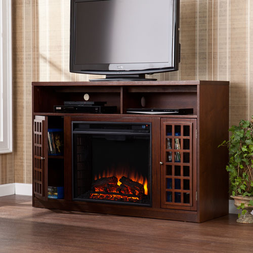 Narita Espresso Media Electric Fireplace