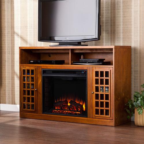 Narita Pine Media Electric Fireplace