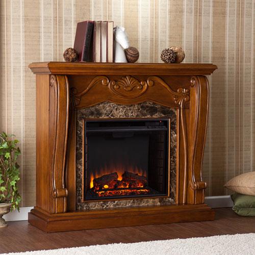 Cardona Electric Fireplace - Walnut