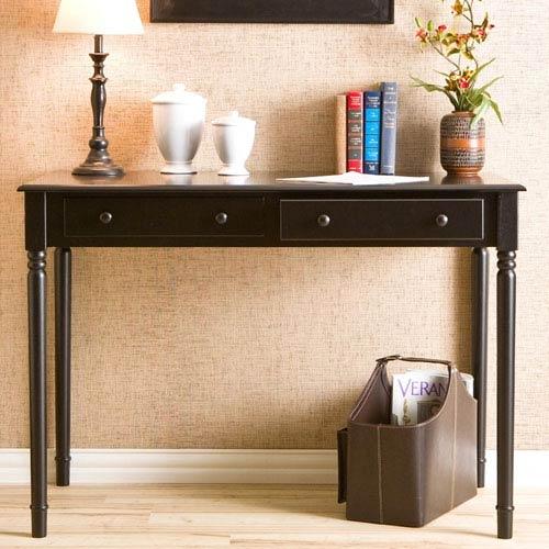 Black 2 Drawer Writing Desk