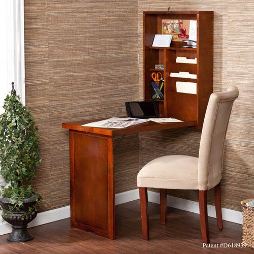 Walnut Fold Out Convertible Desk