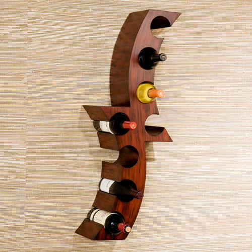 Rust Calabria Wall Mount Wine Rack
