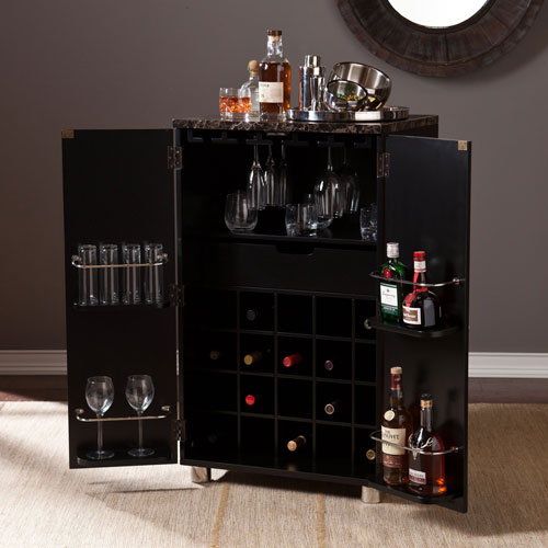 Black Cape Town Contemporary Wine Cabinet