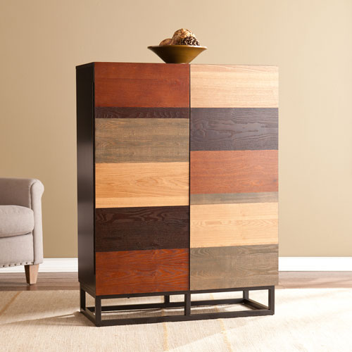 Harvey Multi-Tonal Bar Cabinet