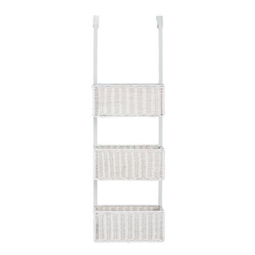 White Over-The-Door 3-Tier Basket Storage