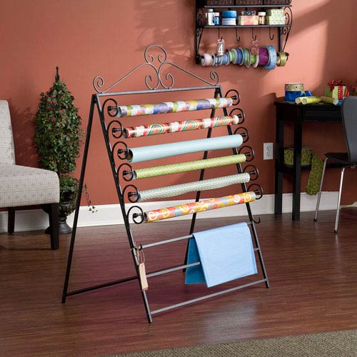 Black Wall Mount Craft Storage Rack