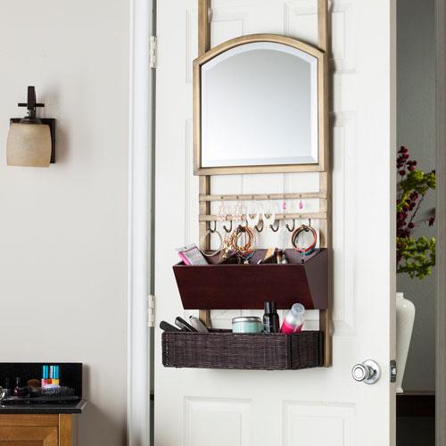 Cantera Over-the-Door Organizer/ Mirror