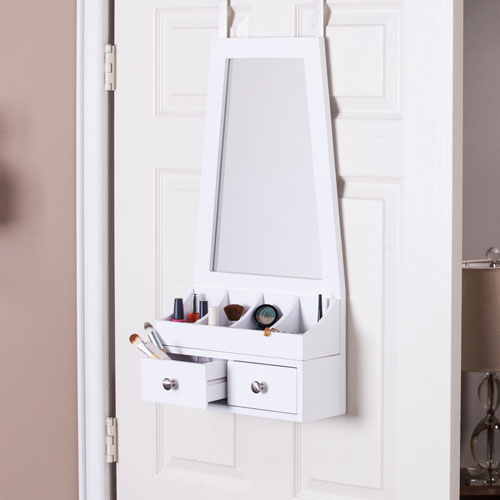 Larissa Over-the-Door Mirror/Accessory Organizer