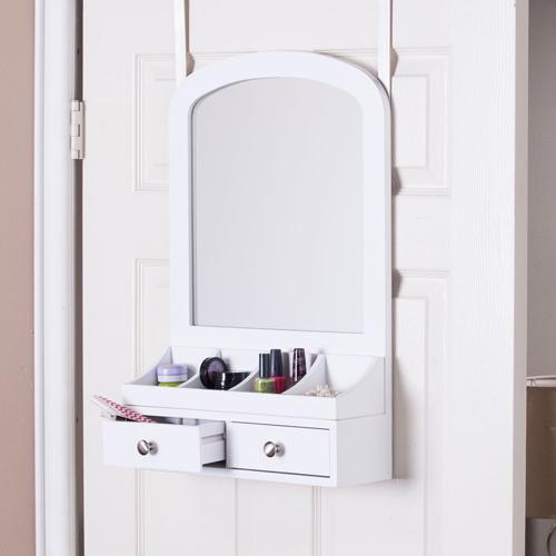 Myla Over-the-Door Jewelry Mirror/Accessory Organizer