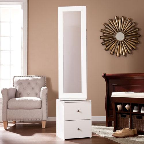 Darby Swivel Jewelry Storage - White