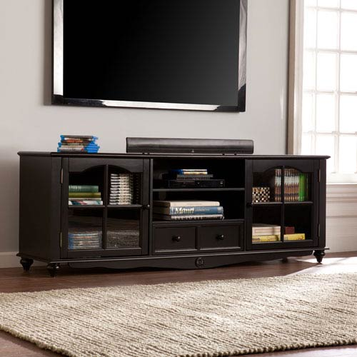 Southern Enterprises Coventry 69-inch TV Console - Antique Black