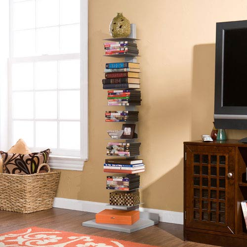 Silver Spine Book Tower