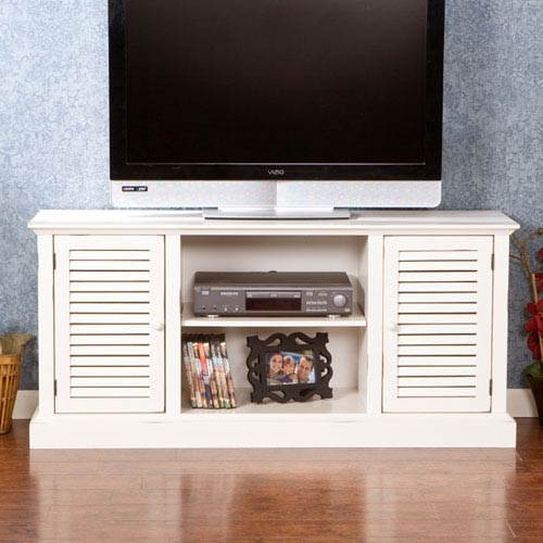 Southern Enterprises Antebellum White Media Stand