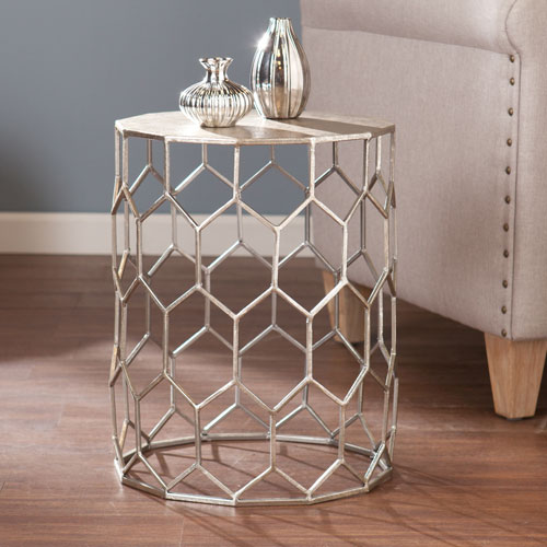 Clarissa Metal Accent Table