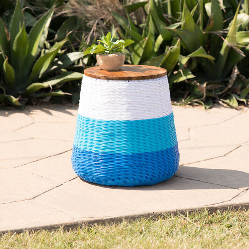 Braylor Indoor or Outdoor Garden Stool or Accent Table with Storage