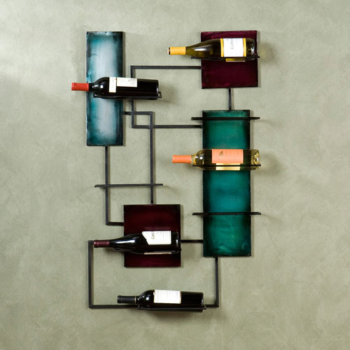 Black Wine Storage Wall Sculpture