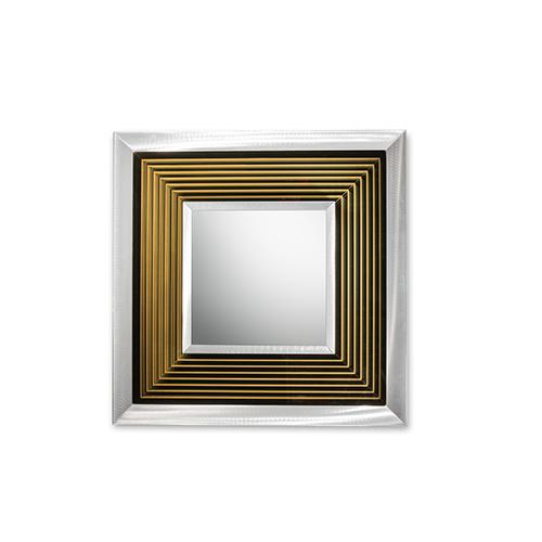 Epoch Silver LED Square Mirror