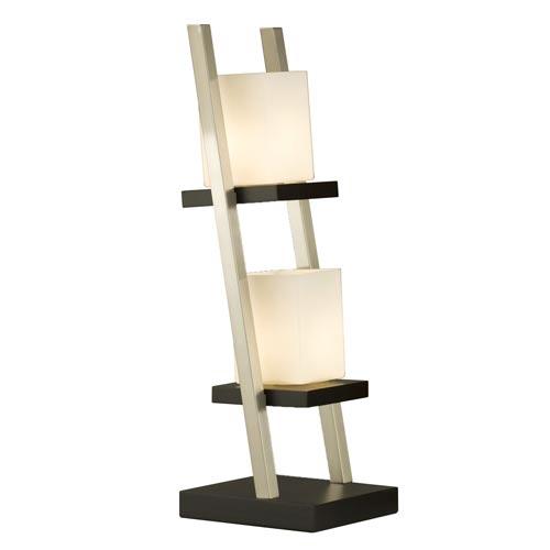 Escalier Dark Brown Two-Light Table Lamp
