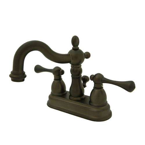 New Orleans Oil Rubbed Bronze Bathroom Faucet with Buckingham Handles