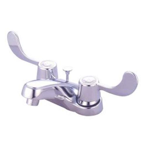 Elements of Design Chrome 4-Inch Centerset Lavatory Faucet with Lever