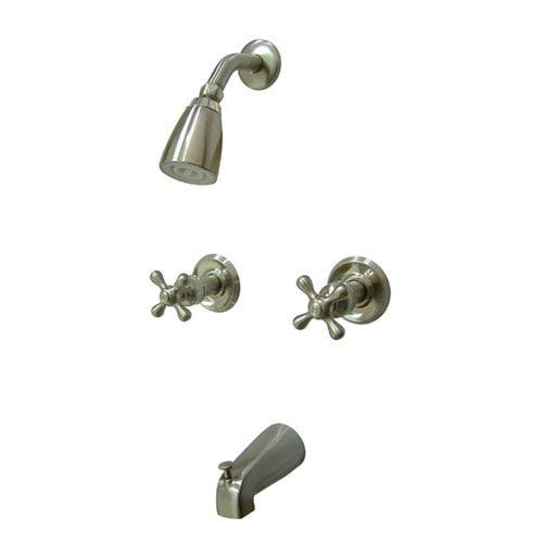 Magellan Satin Nickel Two Handle Tub & Shower Faucet