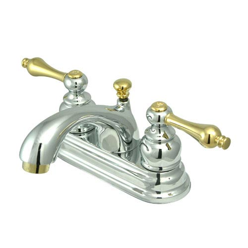 St. Regis Chrome and Brass Bathroom Faucet with Metal Levers