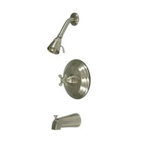 New York Satin Nickel Pressure Balanced Tub and Shower Faucet