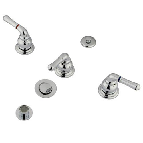 Elements of Design Chrome Bidet Faucet with Metal Magellan Lever Handles