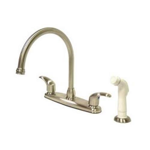 Elements Of Design Daytona Satin Nickel 8 Inch Goose Neck Spout Kitchen Faucet